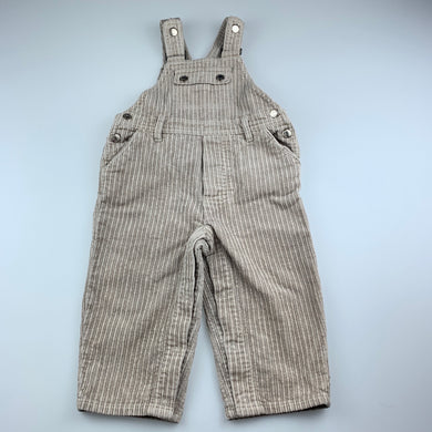 Boys Sprout, thick corduroy cotton overalls / dungarees, small mark on bib, FUC, size 1