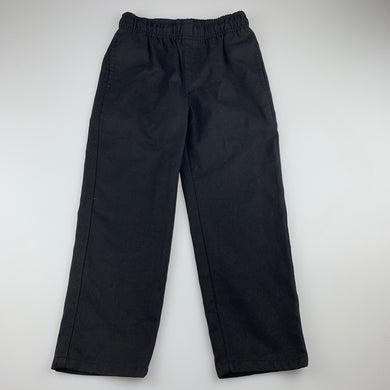 Unisex Anko, black school pants, elasticated, Inside leg: 46cm, EUC, size 5