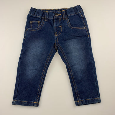 Boys Anko, blue denim jeans, adjustable, EUC, size 1