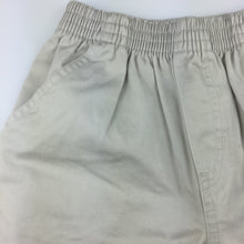 Load image into Gallery viewer, Boys TKS Basics, beige cotton shorts, elasticated waist, EUC, size 5-6