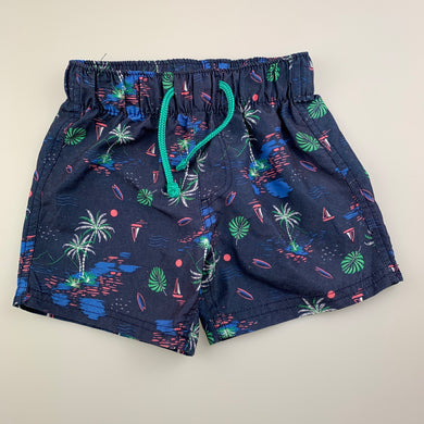 Boys B Collection, lightweight board shorts, elasticated, GUC, size 1