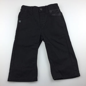 Boys Mini Mango, black denim jeans, elasticated, GUC, size 1