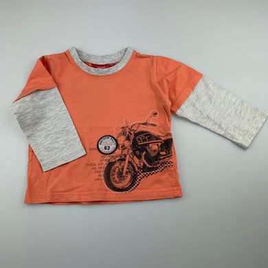 Boys Sprout, spliced cotton long sleeve shirt / top, GUC, size 1