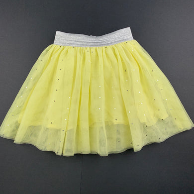 Girls Seed, cotton lined yellow tulle tutu party skirt, EUC, size 4
