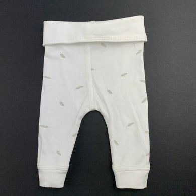 Unisex purebaby, soft organic cotton leggings / bottoms, up to 2kg, EUC, size 00000