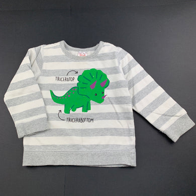 Boys Sprout, fleece lined sweater / jumper, dinosaur, GUC, size 2
