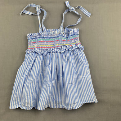 Girls Seed, striped cotton summer top, FUC, size 4