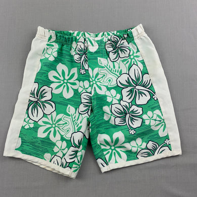 Boys Sprout, lightweight floral board shorts, elasticated, FUC, size 1