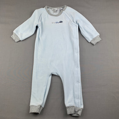 Boys Bebe by Minihaha, soft velour romper, cars, EUC, size 0