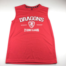 Load image into Gallery viewer, Boys NRL, St George Illawarra Dragons lightweight singlet, GUC, size 14