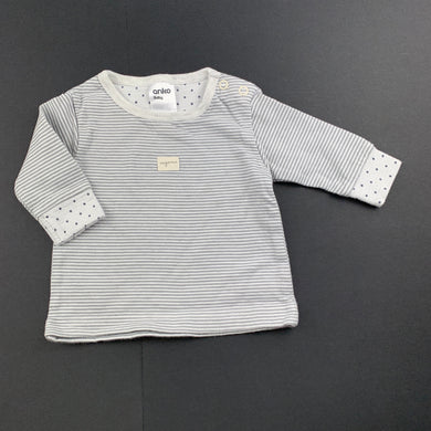 Unisex Anko Baby, soft feel striped long sleeve top, EUC, size 0000