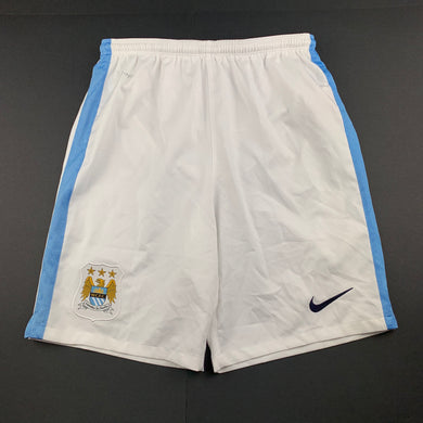 Boys Nike, Dri-Fit lined Man City football shorts, EUC, size 12-13