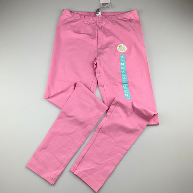 Girls Anko, pink stretchy leggings, NEW, size 14