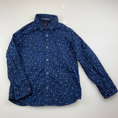 Boys Allen Solly, floral cotton long sleeve shirt, EUC, size 5-6