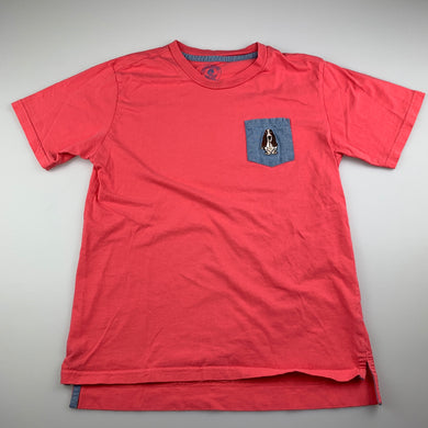 Girls Hush Puppies, pink cotton t-shirt / top, GUC, size 9-10