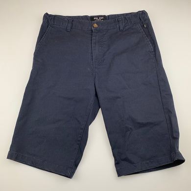 Boys Indie, navy stretch cotton shorts, adjustable, GUC, size 14