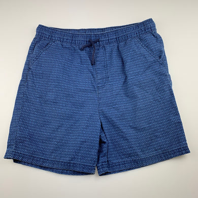 Boys B Collection, blue cotton shorts, elasticated, GUC, size 16