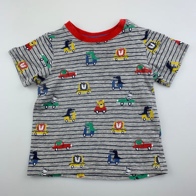 Boys Sprout, soft cotton t-shirt / top, animals, GUC, size 1
