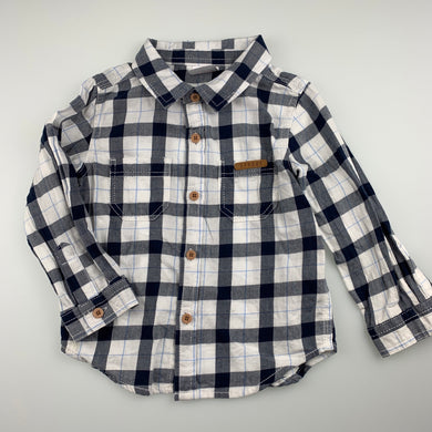 Boys Sprout, checked cotton long sleeve shirt, GUC, size 1