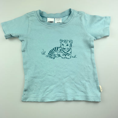 Unisex Anko Baby, organic cotton t-shirt / top, tiger, GUC, size 1