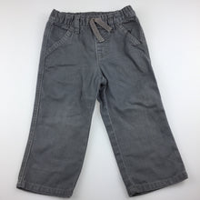 Load image into Gallery viewer, Boys Gymboree, grey denim jeans, elasticated, GUC, size 2