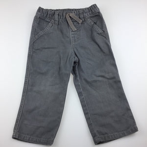 Boys Gymboree, grey denim jeans, elasticated, GUC, size 2