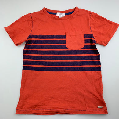 Boys Pumpkin Patch, orange cotton t-shirt / top, GUC, size 7