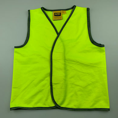 Boys Aust Industrial Wear, yellow hi-vis vest / top, FUC, size 4-6
