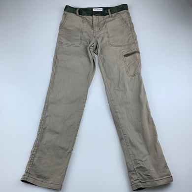 Boys Country Road, khaki stretch cotton pants, adjustable, Inside leg: 58cm, GUC, size 8
