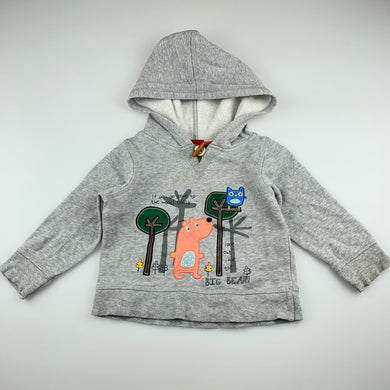 Boys Sprout, grey cotton hoodie sweater, FUC, size 2