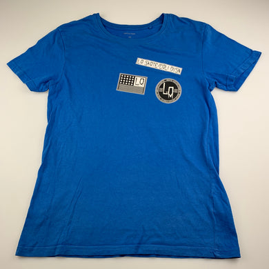 Boys Favourites, blue cotton t-shirt / top, skate, FUC, size 14