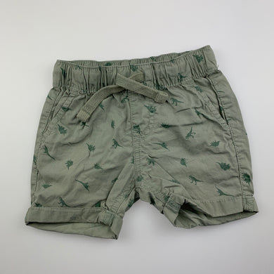 Boys Anko, khaki cotton shorts, elasticated, GUC, size 1