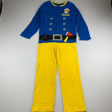 Boys Fireman Sam, cotton dress-up costume, FUC, size 5-6