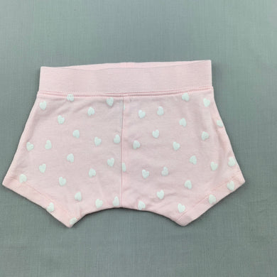 Girls Anko Baby, pink soft cotton shorts, elasticated, EUC, size 000