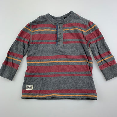Boys ABCD Indie, striped cotton long sleeve top, GUC, size 0