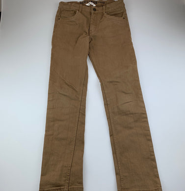 Boys H&M, skinny fit stretch cotton pants, adjustable, Inside leg: 69cm, EUC, size 13