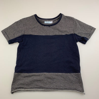 Boys Funky Babe, navy stretchy t-shirt / top, GUC, size 5