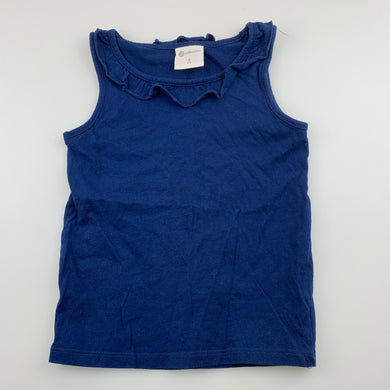 Girls B Collection, blue cotton tank top, GUC, size 4