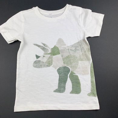 Boys Anko, cotton t-shirt / top, rhino, EUC, size 5