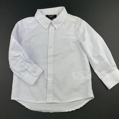 Boys Bardot Junior, white long sleeve shirt, FUC, size 1