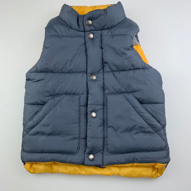 Boys Pumpkin Patch, grey puffer vest / sleeveless jacket, EUC, size 2