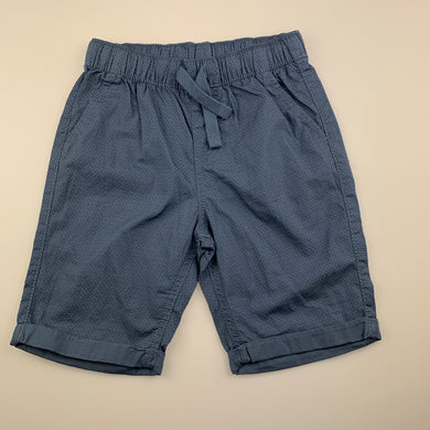 Boys Anko, blue lightweight cotton shorts, elasticated, EUC, size 5