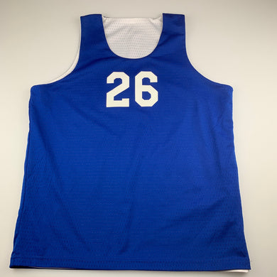Boys Campus Spirit, blue / white reversible basketball top, EUC, size 14