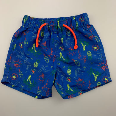 Boys B Collection, lightweight board shorts, elasticated, EUC, size 2