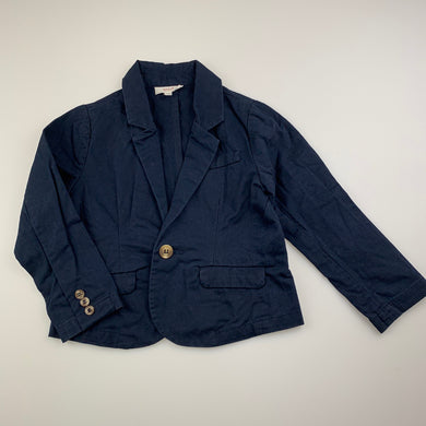 Boys Seed, navy cotton jacket / blazer, GUC, size 1-2