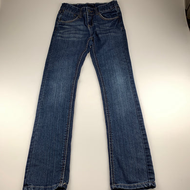 Girls Pumpkin Patch, blue denim jeans, adjustable, Inside leg: 69cm, GUC, size 11