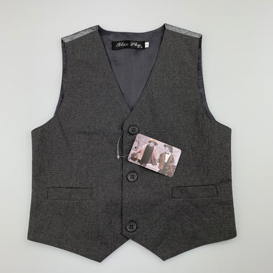Boys Blue Sky, grey wedding / formal waistcoat / vest, NEW, size 4