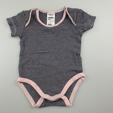 Girls Anko Baby, striped cotton bodysuit / romper, GUC, size 000