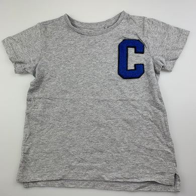 Boys Cotton On, grey marle t-shirt / top, GUC, size 5-6