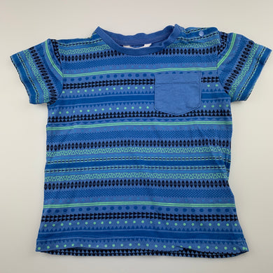 Boys Pumpkin Patch, blue cotton t-shirt / top, GUC, size 2